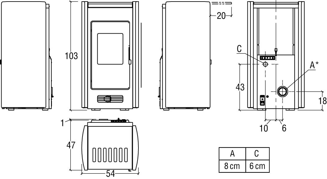P951 p951 Ardesia schema hd 1 - Poêle PREMIUM LINE P951